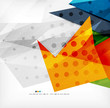 Modern 3d abstract shapes on white layout
