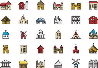 Buildings & Constructions icons