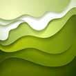 Abstract green wave paper background