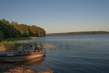 Evening light on Finnish Lake