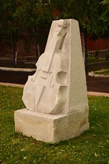 A monument to the violin in Astana / Kauakhstan