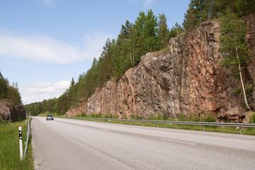 Open road through granite