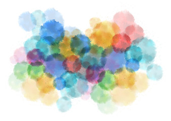 Colorful splatters background