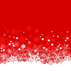 Weihnachten - Hintergrund mit Schnee rot