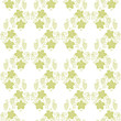 Seamless Floral Pattern (Vector). Hand Drawn Texture with Hop
