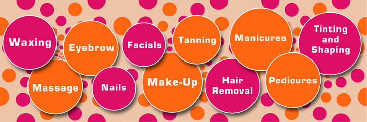 Beauty Treatments Peach Pink Circles