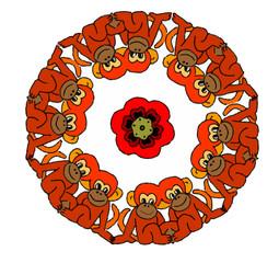 mandala con scimmiette
