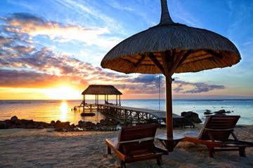 Mauritius Sunset  in Mauritius Island