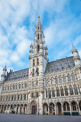 Brussels - Town hall gothic building.