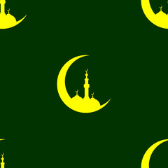 Ramadan seamless pattern, vector background