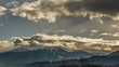 Snow melting on Alpine Mountain tops near Innsbruck time lapse