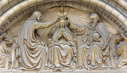 Brussels - Corronation of Mary - Notre Dame de la Chapelle
