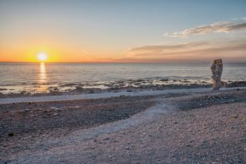 Summer evening at Langhammars on Faro island in Sweden