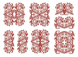 Dog head in tribal style - Celtic patterns