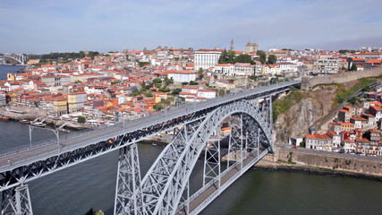 Bridge of Luis I over Douro river , Porto, Portugal