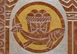"""Agnus Dei"" relief from side altar in Carmelites church"