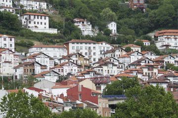 Neighborhood of Matiko-Ciudad Jardin, Bilbao (Spain)