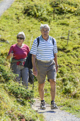 Senioren beim Bergwandern