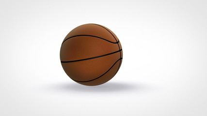 basketball bouncing on white background