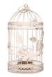 shabby chic bird cage candle holder