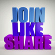 Join, like, share