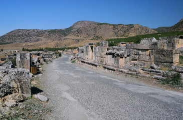Empty Street in Ancient Hierapolis