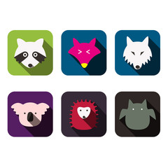 animal face flat icon