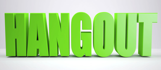 Green Hangout sign