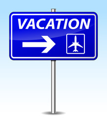 Vector vacation sign