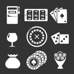 Set icons of casino