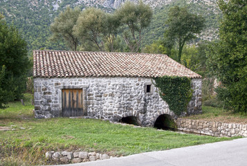 Old mediterranean water mill
