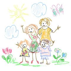 Childish family Doodles