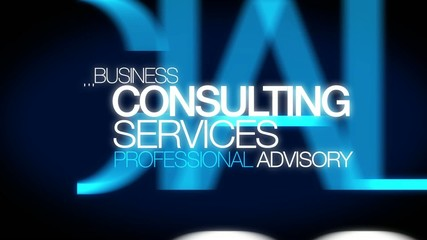 Consulting services professional advisory words tag cloud
