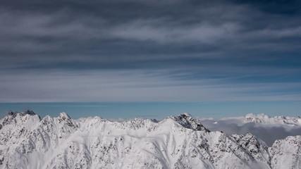 Tirol Alpine winter mountain landscape time lapse 4K