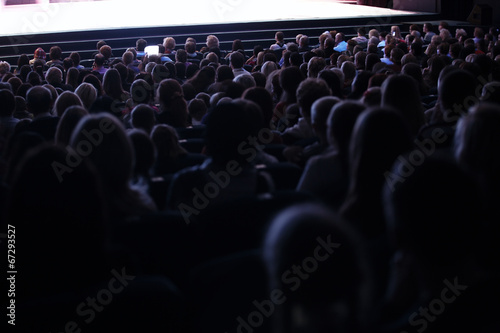 People seated in an audience - 67293527