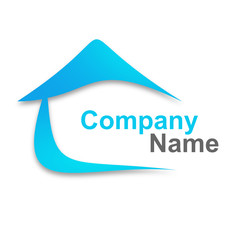 logo immobilier bleu design
