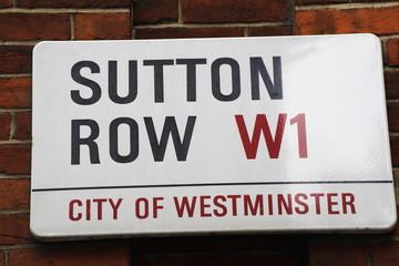 Sutton Row Street Sign