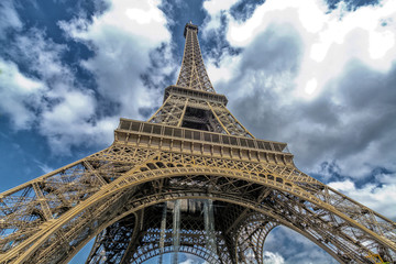 Beautiful view of Tower Eiffel