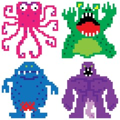 worse nightmare terrifying monsters pixel art
