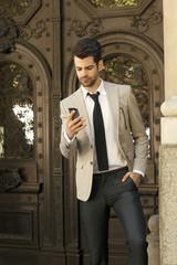 Modern young businessman