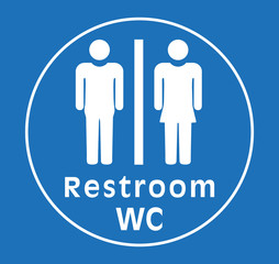 sign restroom women man,