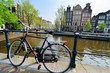 Bicycle along the canals of Amsterdam, Netherlands