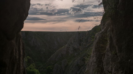 Transylvania Tureni canyon rock face time lapse 4K