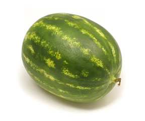 Full watermelon isolated on the white background