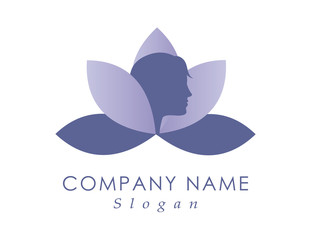 Woman face logotype