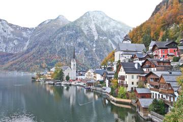 Hallstatt town in Autumn