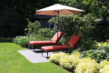 Garden lounge chairs