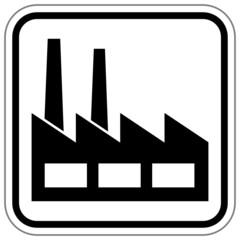 Industriegebiet Schild  #140709-svg02