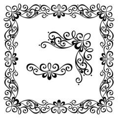 Decorative Abstract Frame, Ornament (Vector). Decorative Corner