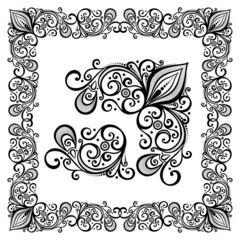 Decorative Abstract Frame, Ornament (Vector). Decorative Corner